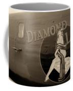 Vintage Diamon Lil B-24 Bomber Aircraft Coffee Mug