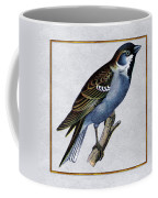 Vintage English Sparrow Square Coffee Mug