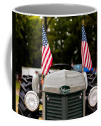 Vintage Ferguson Tractor With American Flags Coffee Mug