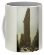 Vintage Flatiron In Winter Coffee Mug