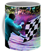 Vintage Formula 1 Race Checkered Flag  Coffee Mug