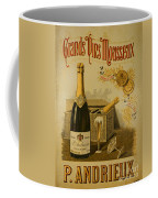 Vintage French Poster Andrieux Wine Coffee Mug