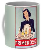 Vintage French Tin Sign Primerose Coffee Mug
