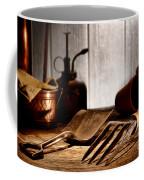 Vintage Gardening Tools Coffee Mug by Olivier Le Queinec