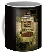 Vintage Gas Pump At An Abandoned Filling Station Coffee Mug