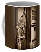 Vintage Gas Pump Showing Its Age Coffee Mug