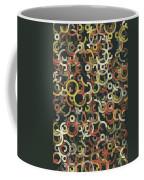 Vintage Geometric Circle Segment Pattern Coffee Mug