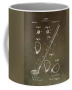 Vintage Golf Club Patent Coffee Mug
