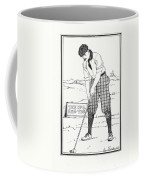 Vintage Golfer 1900 Coffee Mug