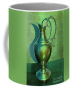 Vintage Green Pewter Pitcher Coffee Mug