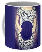 Vintage Hat Flower Dress Woman Coffee Mug