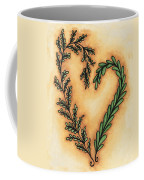 Vintage Heart Wreath Coffee Mug
