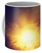 Vintage Image Of Sunset Sky With Dark Dramatic Clouds Coffee Mug