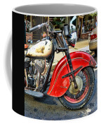Vintage Indian Motorcycle - Live To Ride Coffee Mug