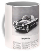 Vintage Karmann Ghia Advert Coffee Mug