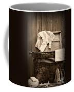 Vintage Laundry Room In Sepia Coffee Mug