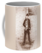 Vintage Male Skateboarder Coffee Mug