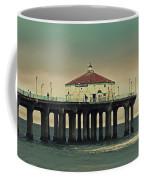 Vintage Manhattan Beach Pier Coffee Mug
