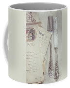 Vintage Menu Cards Knife And Fork Coffee Mug