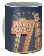 Vintage Motel Sign Holiday Motel Square Coffee Mug