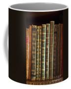 Vintage Music Books On A Shelf Coffee Mug