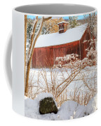 Vintage New England Barn Portrait Square Coffee Mug by Bill Wakeley