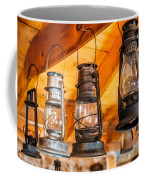 Vintage Oil Lanterns Coffee Mug by Paul Freidlund