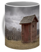 Vintage Outhouse Behind A Historical Country School In Southwest Michigan Coffee Mug