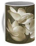 Vintage Plumeria Trio Coffee Mug