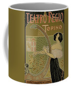 Vintage Poster Advertising The Theater Royal Turin Coffee Mug