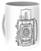 Vintage Press Camera Patent Drawing Coffee Mug