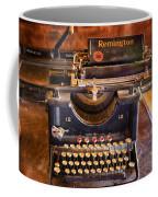 Vintage Remington Typewriter  Coffee Mug