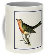Vintage Robin Square Coffee Mug
