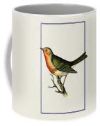 Vintage Robin Vertical Coffee Mug