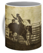 Vintage Saddle Bronc Riding Coffee Mug