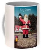 Vintage Santa Claus Christmas Card Coffee Mug by Edward Fielding