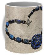 Vintage Sapphire Rhinestone Brooch Pendant Necklace 3635n Coffee Mug