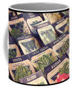 Vintage Seed Packages Coffee Mug by Edward Fielding