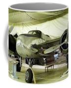 Vintage Silver Bomber Airplane Coffee Mug