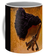 Vintage Skeleton Keys Tassled Gold Coffee Mug