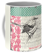 Vintage Songbird 4 Coffee Mug by Debbie DeWitt