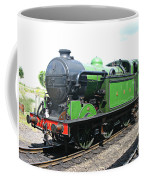 Vintage Steam Train In Green  Coffee Mug