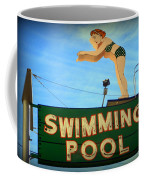 Vintage Swimming Lady Hotel Sign Coffee Mug