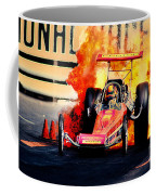 Vintage Top Fuel Dragster Fire Burnout-wild Bill Carter Coffee Mug