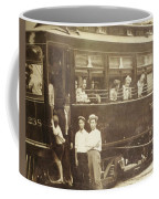 Vintage Train All Aboard Coffee Mug