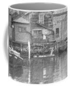 Vintage Waterfront Scene Coffee Mug