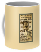 Vintage Willie Nelson 1985 Farm Aid Poster Coffee Mug