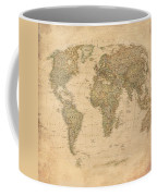 Vintage World Map Coffee Mug