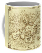 Vintage Yosemite Map 1870 Coffee Mug