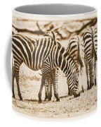 Vintage Zebras Coffee Mug